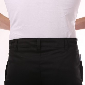 Pantalon de Cuisine Noir 1 pli