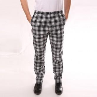 Pantaloni a quadri neri anteriore