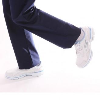 Scarpe bianche e blu - Skechers profilo