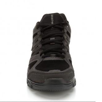 Scarpa professionale nera per uomo - Skechers anteriore