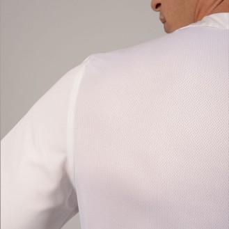 Casacca da medico bianca Collo a V areato zoom