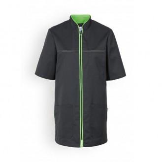 Casacca medica mista nera con bordini - Clinic Dress verde