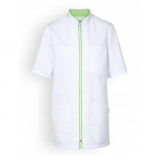 Casacca medica bianca a bordini - Clinic Dress verde