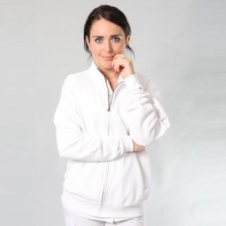 Giacca da donna con cerniera bianca anteriore