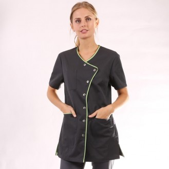 Camice medico nero con orlo lungo - Clinic Dress verde