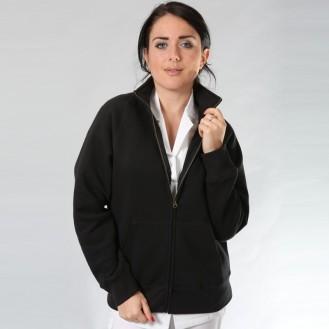 Giacca da donna con cerniera nero