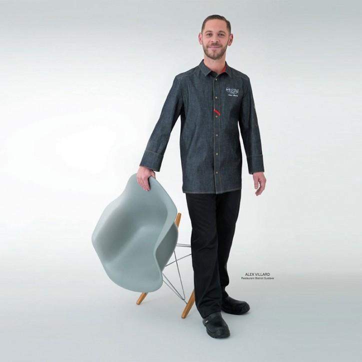 Giacca da chef unisex Vinho Robur