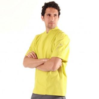 Giacca da cucina color pistacchio - Robur profilo
