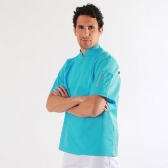 Giacca da cucina azzurra - Robur profilo