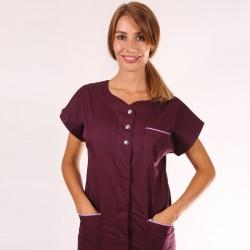 Blouse médicale femme Valia Bordeaux