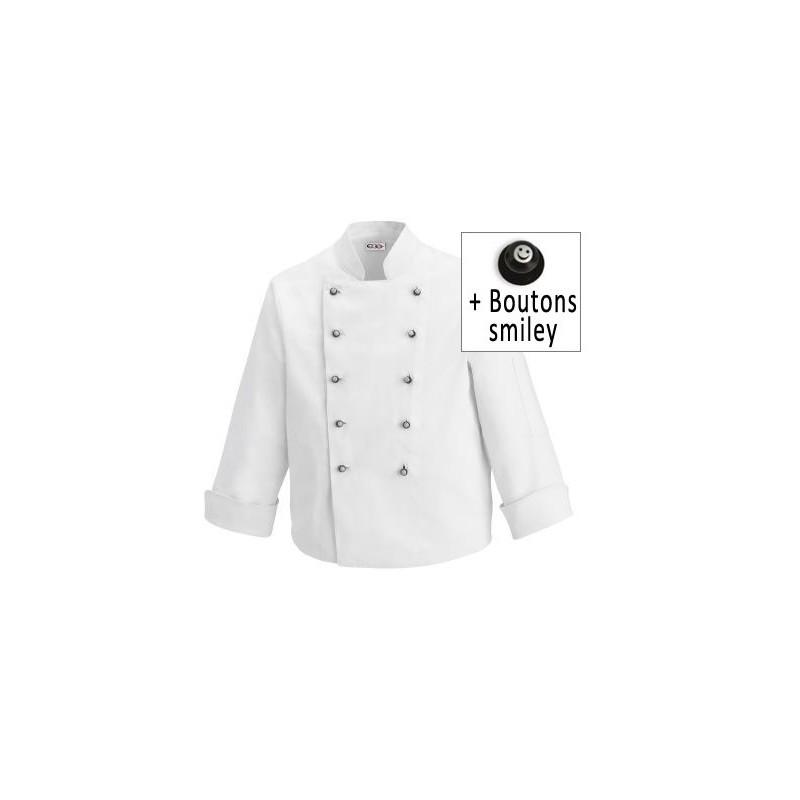 Veste de cuisine enfant - Broderie veste de cuisine ...