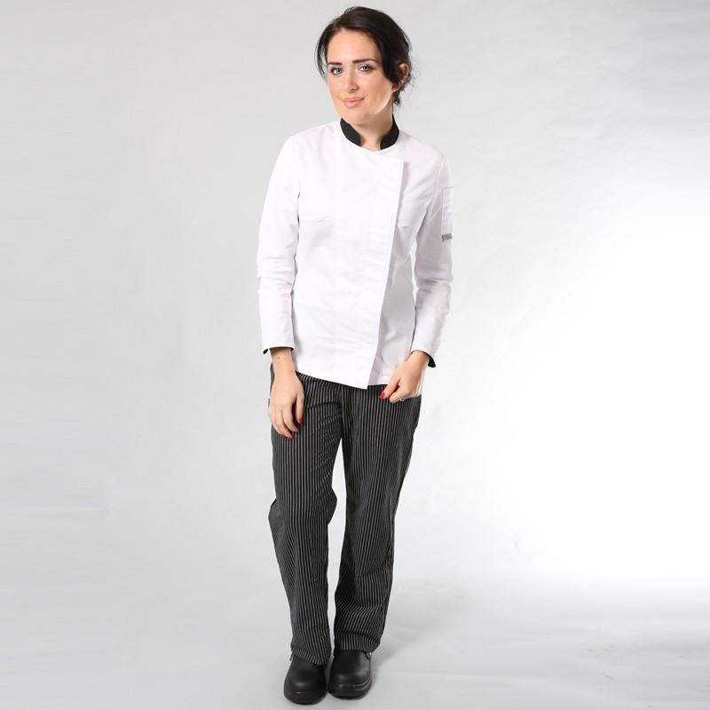 Pantalon de Cuisine Fines Rayures promotion
