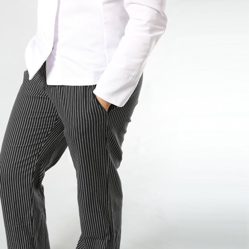 Pantalon de Cuisine Fines Rayures confort