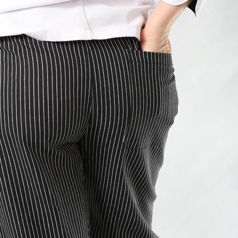 Pantalon de Cuisine Fines Rayures hommes pas cher