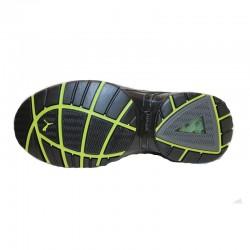 Basket de sécurité Puma Fuse motion verte - S1P. Semelle aux normes de sécurité impeccables.
