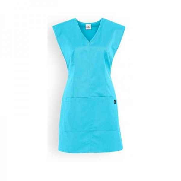 Chasuble turquoise col V