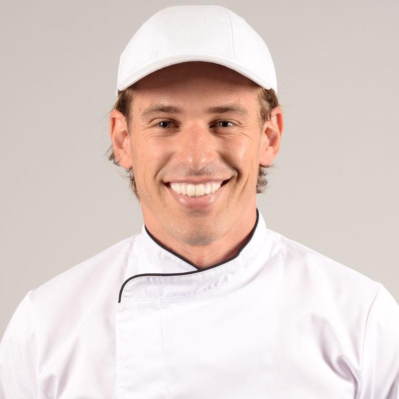 Casquette de cuisine blanche
