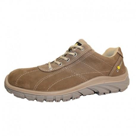 Chaussures de Sécurité S3, marron avec semelle souple.