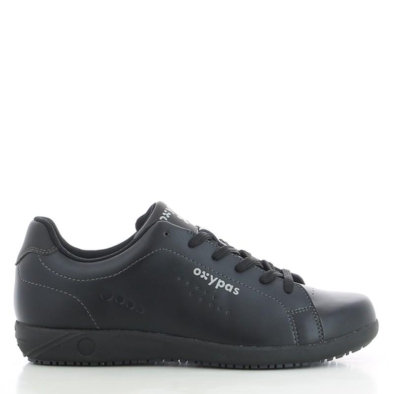 EVAN  - BASKET HOMME. Oxypas, bonne qualité. Noire sobre. Aspect chaussure de ville.