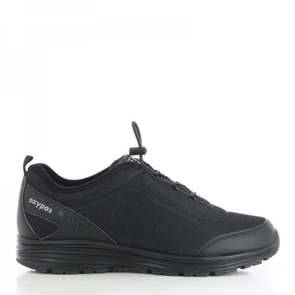 JAMES  - BASKET DE SECURITE HOMME. Chaussure de sécurité noir sans lacet de la marque oxypas.