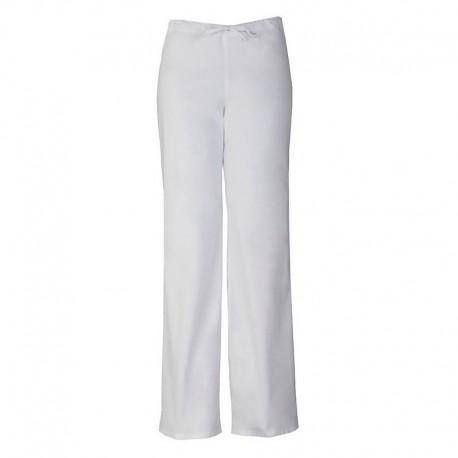 Pantalon médicale blanc femme homme mixte aide soignant infirmiere promotion pas cher