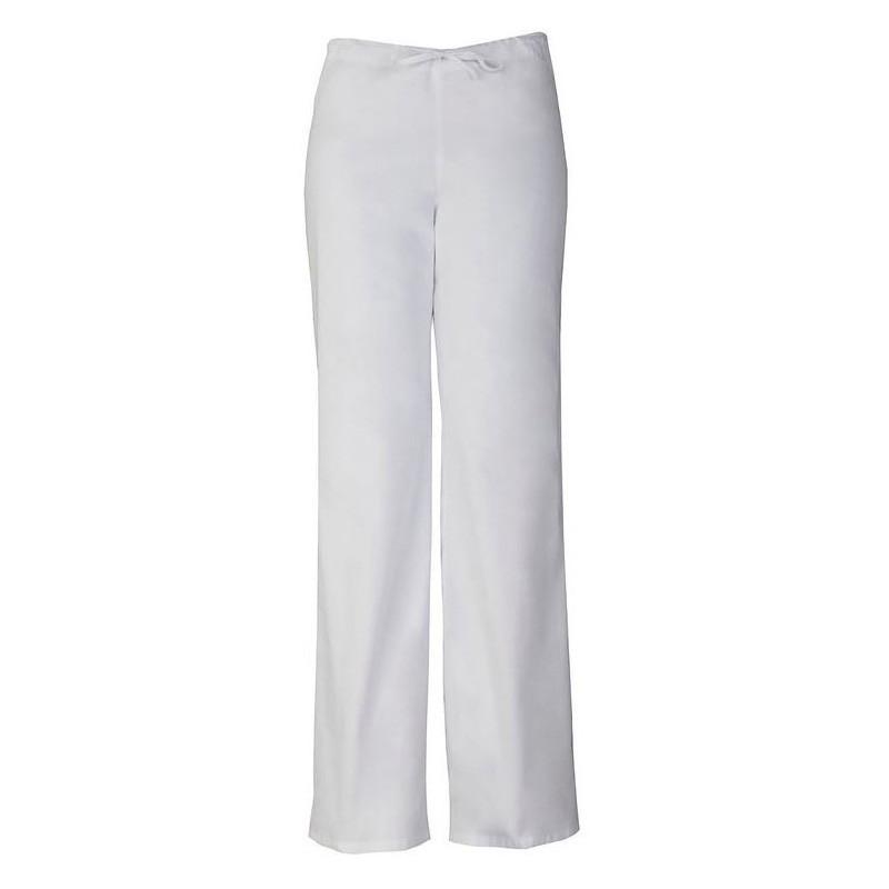 Pantalon médicale blanc homme femme mixte infirmiere aide-soignants hopital promo confortable