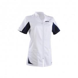 Blouse médicale 2SAN blanc & bleu marine promotions