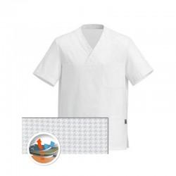 Tunique Medicale blanche Col V aérée