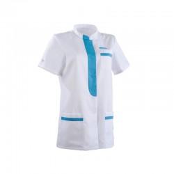 Tunique médicale 2KIM blanc & bleu ciel