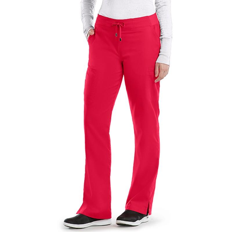 Pantalon médicale femme rouge Grey's anatomy infirmière aide soignant pas cher promotion confortable