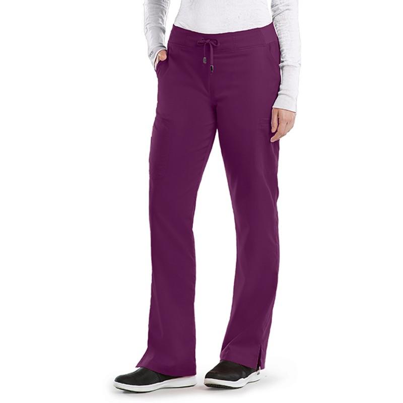Pantalon médicale femme aubergine Grey's anatomy pas cher promotion confortable infirmiere aide soignante