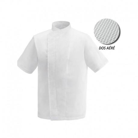 Veste de cuisine blanche dos aéré grande taille