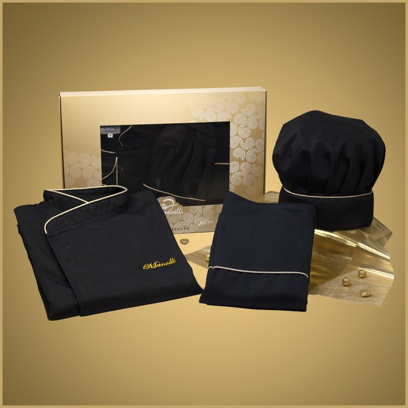 Coffret La Box Gold Homme - MANELLI - Veste + Tablier + Toque - broderie offerte