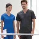 Tunique médicale col V mixte bleu roi DICKIES