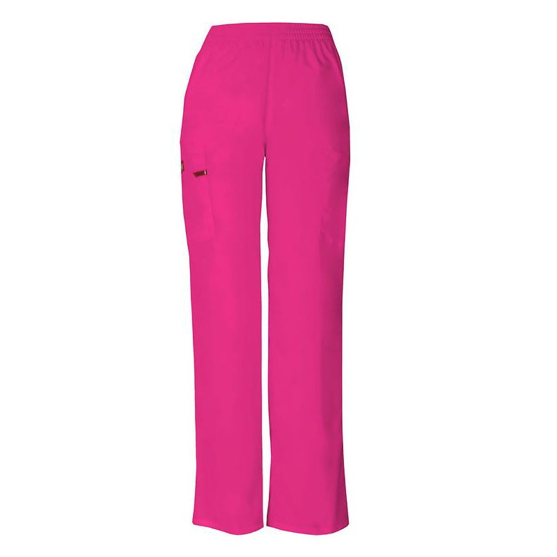 Pantalon médical ceinture élastique Dickies violet  infirmier aide soignant hopital pas cher promotion
