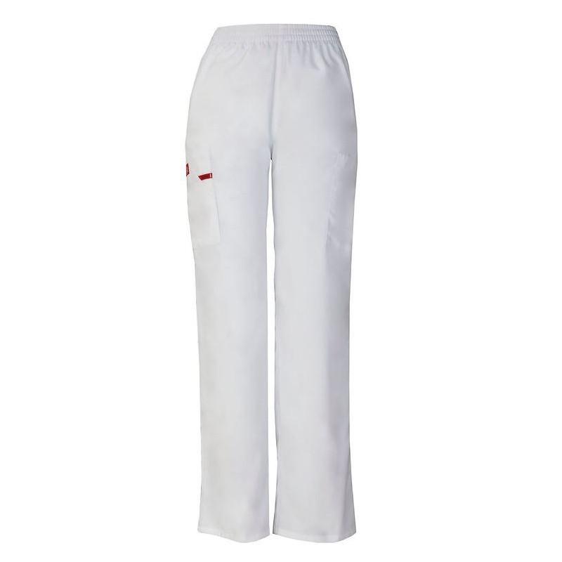 Pantalon médical ceinture élastique Dickies blanc  homme femme mixte pas cher promotion confortable infirmière aide soignante