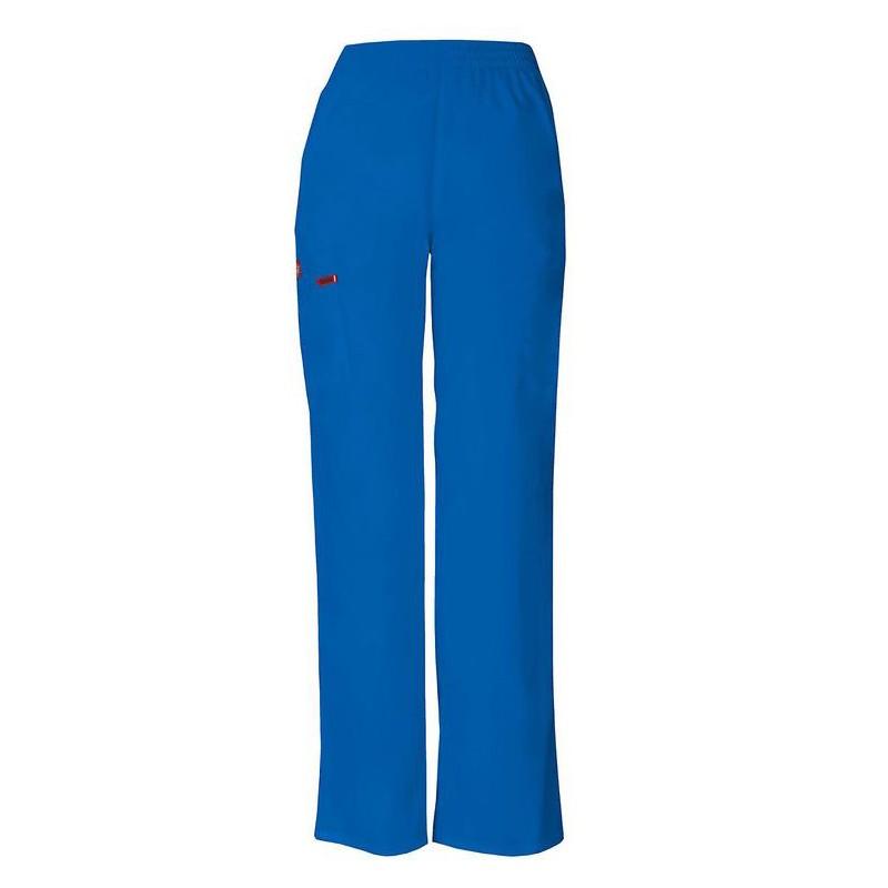 Pantalon médical ceinture élastique Dickies blanc homme femme mixte pas cher promotion confortable infirmières aide soignantex