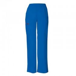 Pantalon médical ceinture élastique Dickies bleu royal homme femme mixte pas cher promotion confortable infirmière aide soignant