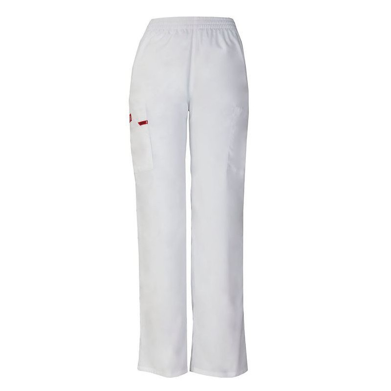 Pantalon médical ceinture élastique Dickies rose homme femme mixte pas cher promotion confort infirmière aide soignante