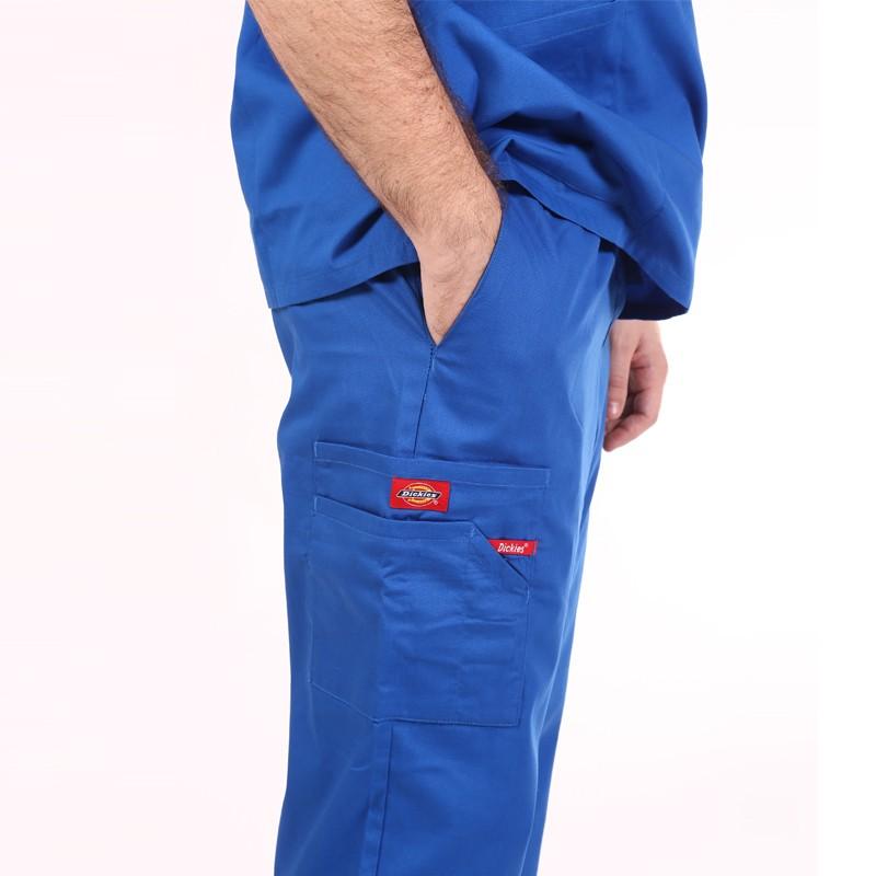 Pantalon médical ceinture élastique Dickies bleu royal homme femme pas cher promotion confortable infirmière aide soignant