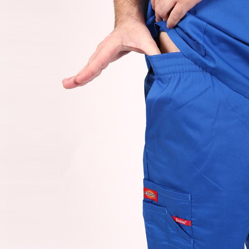 Pantalon médical ceinture élastique Dickies bleu royal homme  mixte pas cher promotion confortable infirmière aide soignant