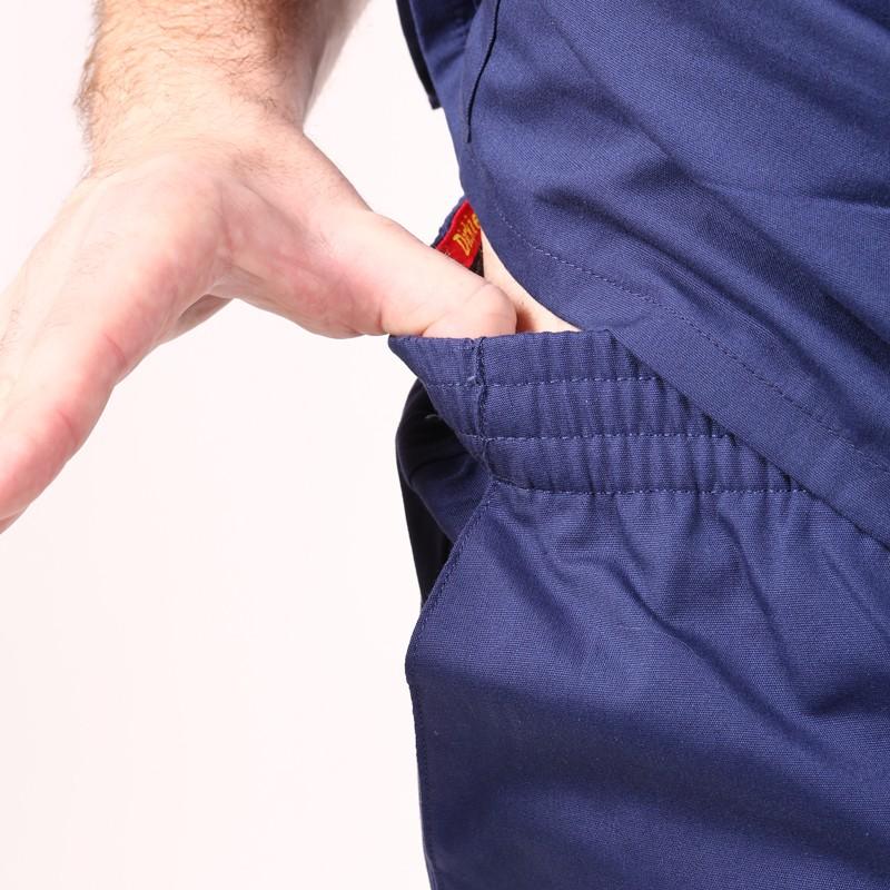 Pantalon médical ceinture élastique Dickies marine  infirmiere aide soignant hopital pas cher promotion