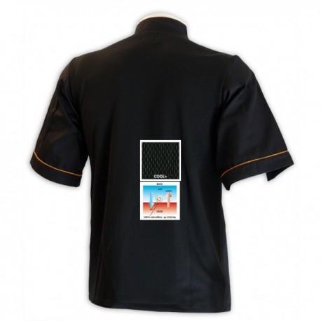 Veste de cuisine grande taille noire dos