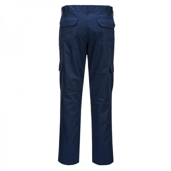 pantalon de travail coupe ajust e slim bleu marine. Black Bedroom Furniture Sets. Home Design Ideas