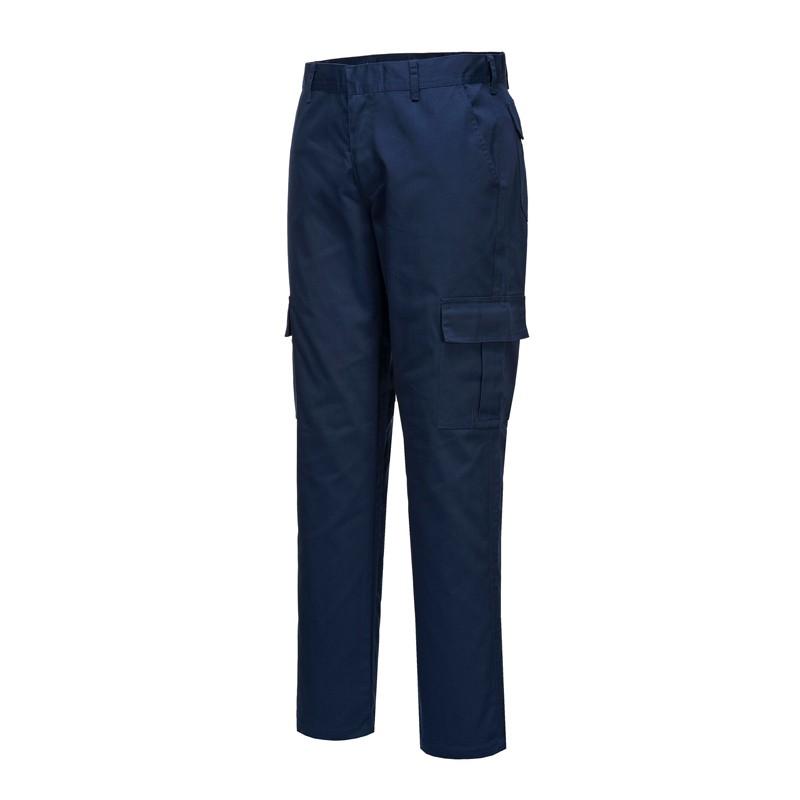 Pantalon de travail coupe ajustée slim bleu marine