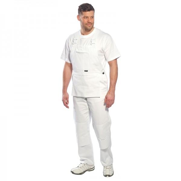 Cotte à bretelles pour peintre blanche