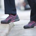 Chaussures de sécurité Puma celerity knit rose S1. Pour des métiers en intérieur ou extérieur.