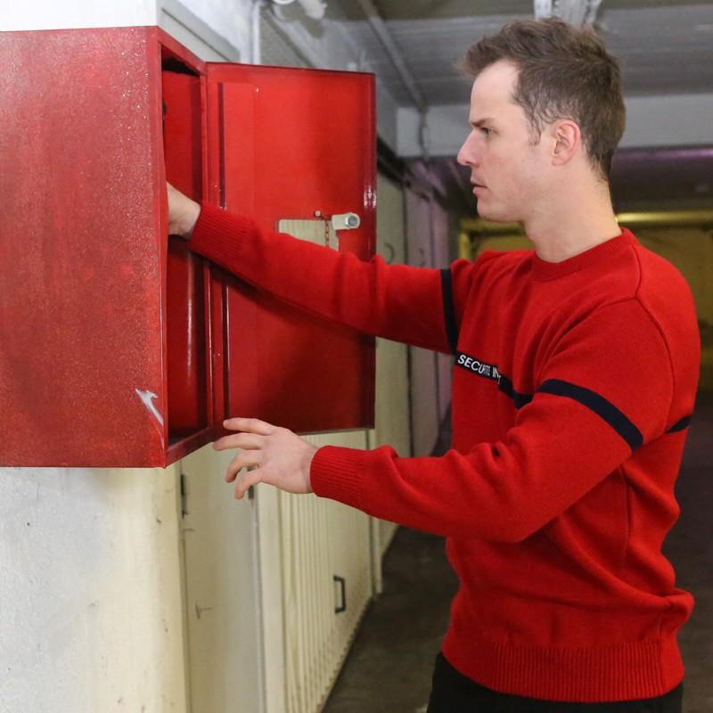 Pullover sécurité incendie rouge