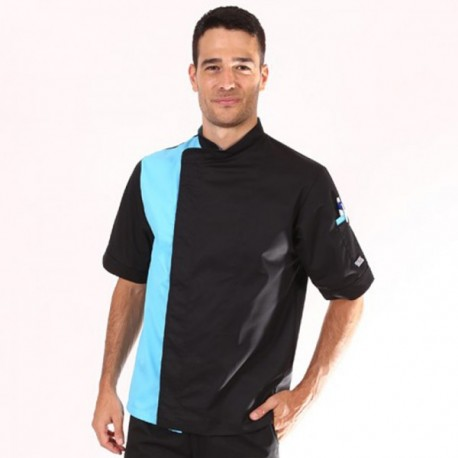 Veste de pâtissier noir / bleu