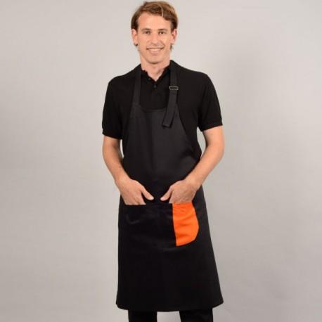 Tablier à bavette et bande couleur pour pâtissiers